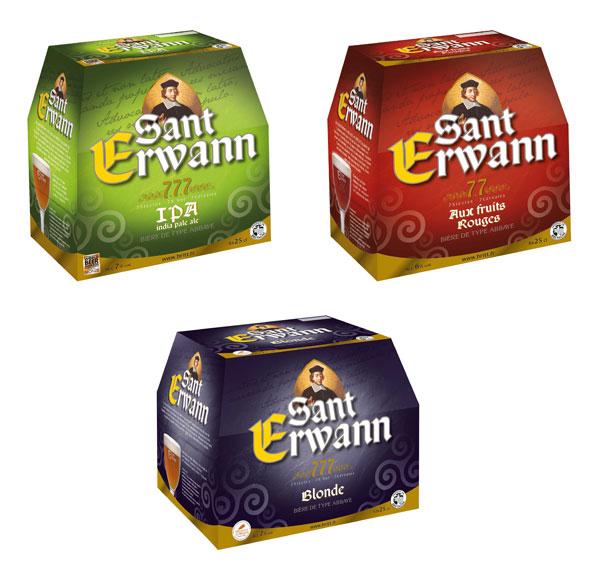 Gamme des bières Sant Erwann