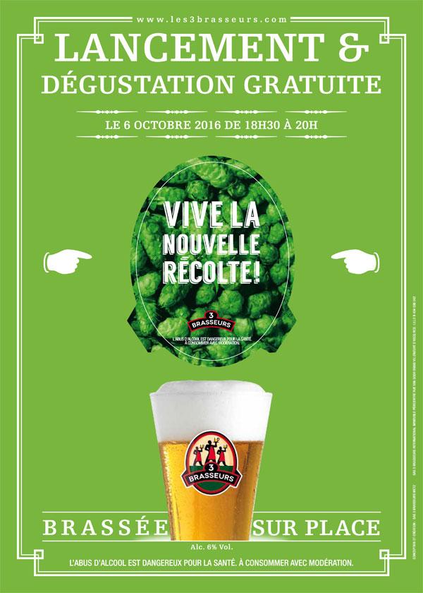 Lancement de la Bière de la Récolte des 3 Brasseurs