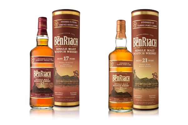 BenRiach 17 ans Pedro Ximenez Sherry Wood Finish et 21 ans Tawny Port Wood Finish