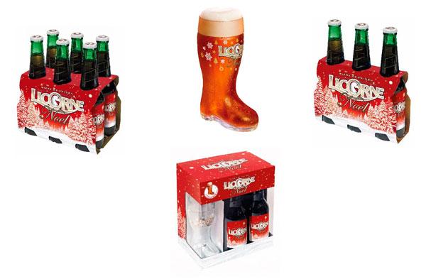 La bière Licorne Noël dans sa nouvelle parure