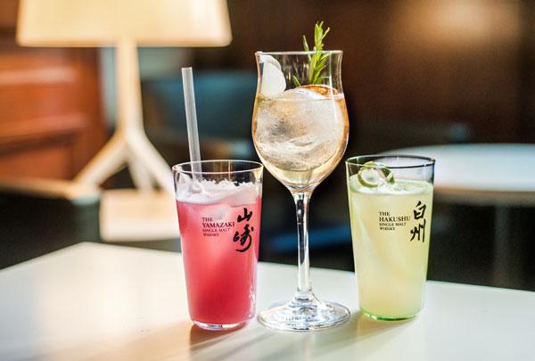 Les cocktails éphémères aux whiskies Suntory du Forvm Classic Bar