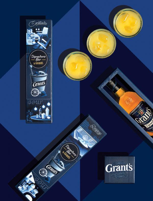 Le coffret de Fêtes  du whisky Grant's Signature par Jeanspézial