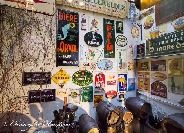 Culture des bières belges au au Poechenellekelder de Bruxelles