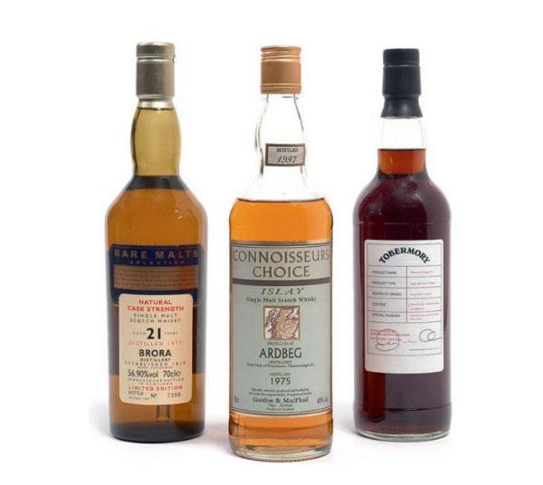 3 whiskies en vente chez Artcurial