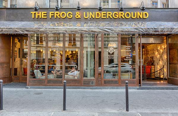 La devanture du Frog Underground