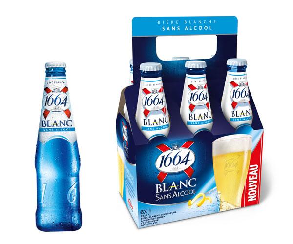 1664 Blanc Sans Alcool 0,5 % dans son basket pack