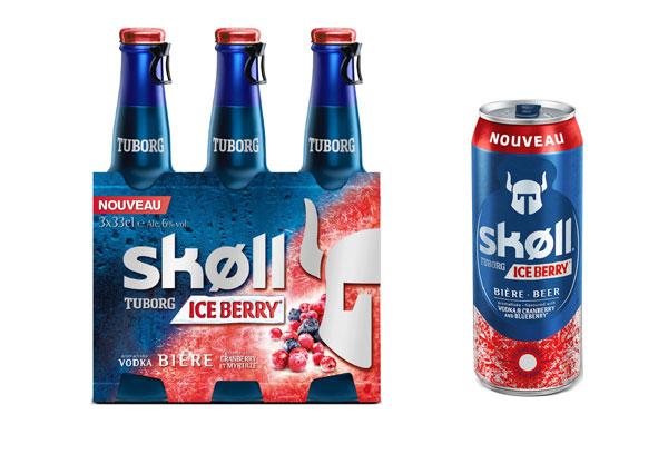 Skøll Ice Berry en bouteille et en boite 50cl
