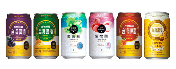 Les bières aromatisées de Taiwan Beer
