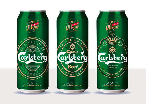 Les boites collector Carlsberg 170 ans