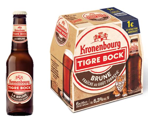 L'offre Kronenbourg Tigre Bock Brune en grandes surfaces
