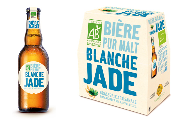 La nouvelle Jade Blanche bière bio de la Brasserie Castelain