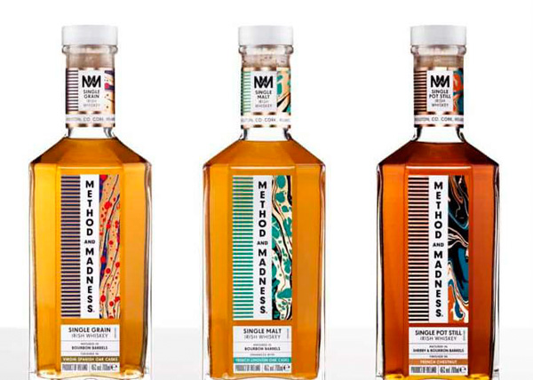 Les trois irish whiskeys Method and Madness disponibles en France