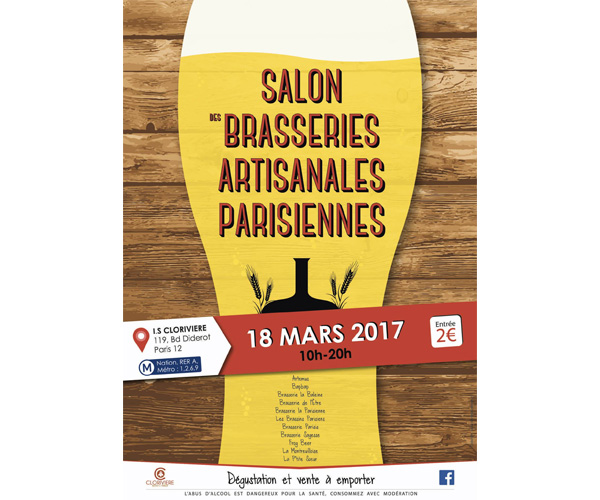 Ne manquez pas le 1er salon des brasseries artisanales for Salon paris mars 2017