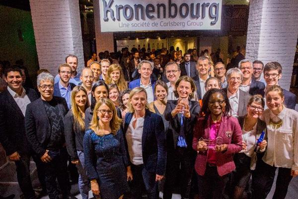 Le prix du Jury « Workinbar » et du Grand Public « Baradom » récompensés par un jury constitué de personnalités indépendantes issues du monde de l'entreprenariat, de la French Tech et de l'innovation et présidé par Nathalie Brochand, Vice-Présidente Marketing de Kronenbourg SAS. ©TLMALP