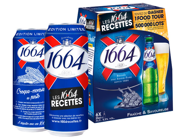80 recettes et jeu concours avec les packs et boites 1664