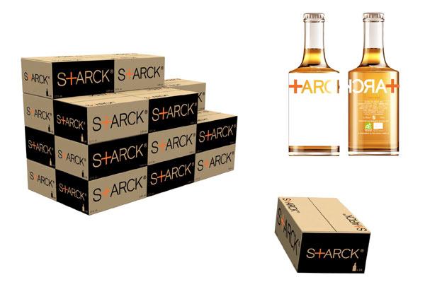 Biere Stark la bouteille et les cartons de livraison
