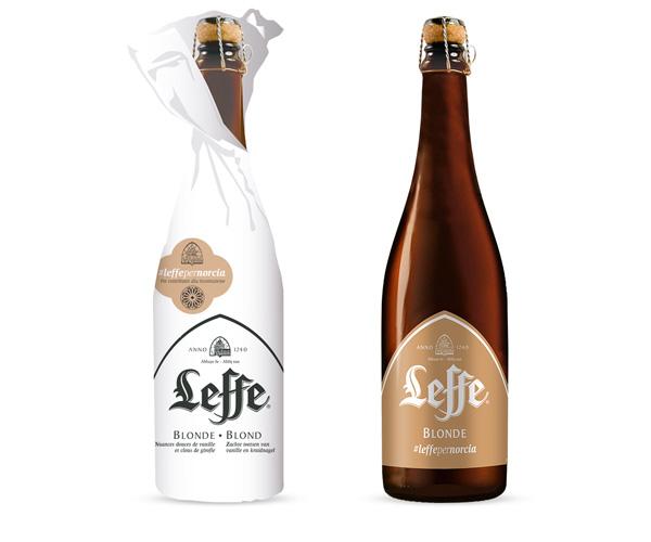 La bouteille de Leffe Blonde en édition limitée #Leffepernorcia