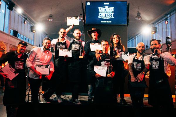 Les 8 finalistes et Nir Chouchana pour The Bartenders Contest 2017 ©Alexis Rieger