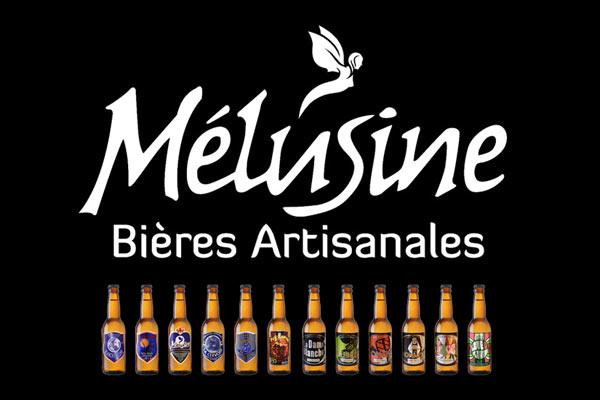 Logo et bières de la Brasserie Mélusine