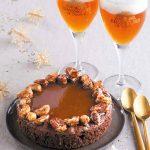 Brownie caramel par Christophe Felder et bière de Noël
