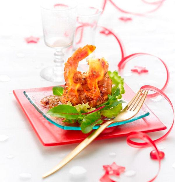 Crevettes flambées au whisky ©Escal, spécialiste des produits de la mer surgelés