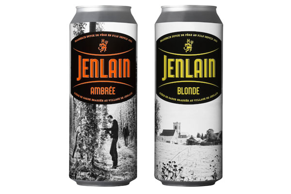 Les boites 50cl de Jenlain Blonde et Ambrée