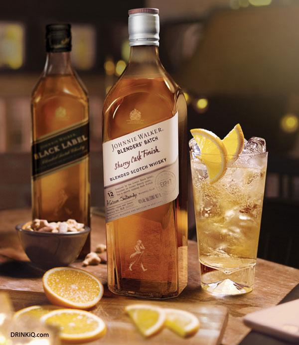 Johnnie Walker Blenders' Batch Sherry Cask Finish et son twist en cocktail long drink
