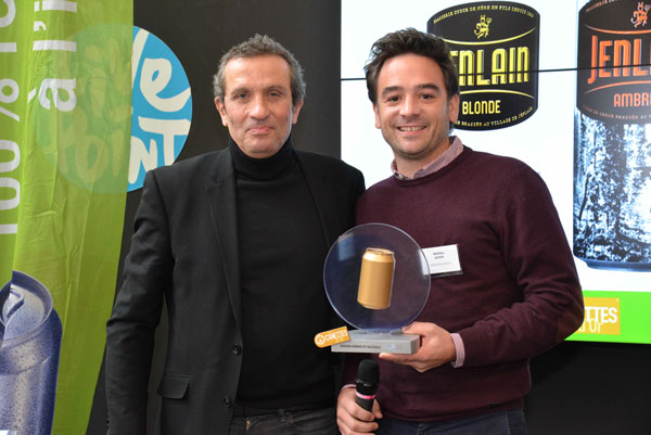 Jean Goldberg de COMETIS (membre du jury des Canettes d'Or) et Mathieu Duyck