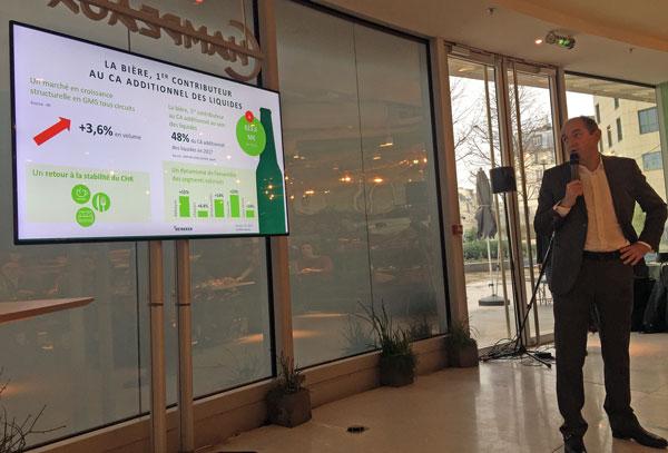 Pascal Sabrié, Président Heineken France présente les résultats Heineken 2017 et les objectifs 2018