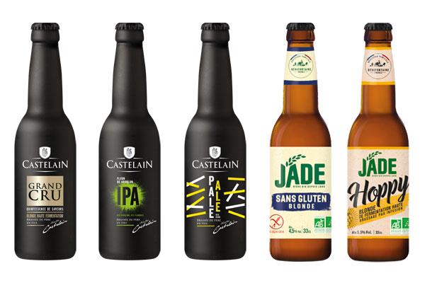 Les bières Castelain et Jade en format 33cl
