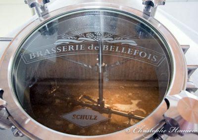 Cuve de brassage à la Brasserie de Bellefois