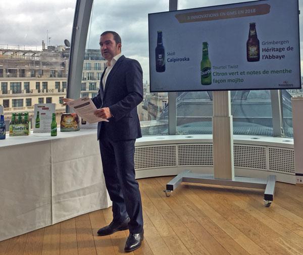 João Abecassis, président de Brasseries Kronenbourg, présente les innovations