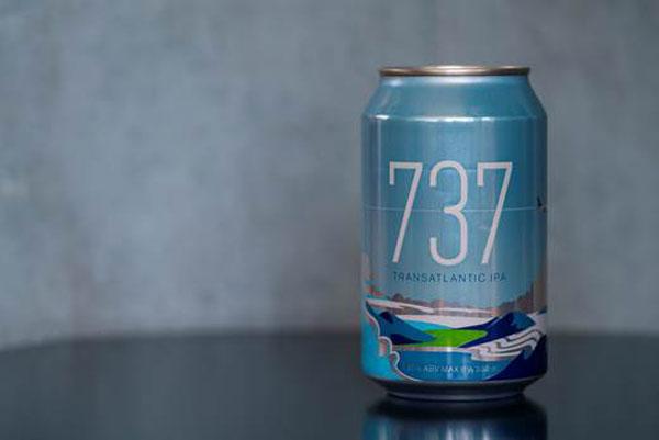 La bière 737 Transatlantic IPA d'Icelandair