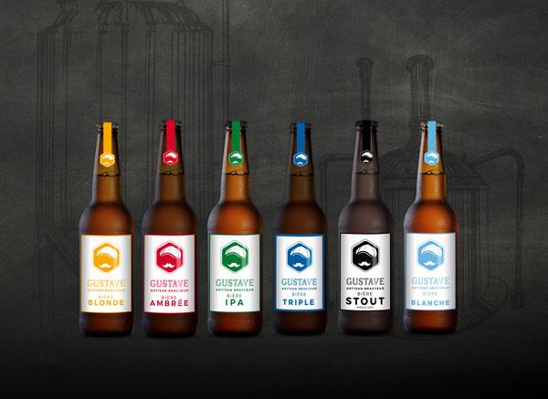 La gamme de bières Gustave de la brasserie Au Coeur du Malt