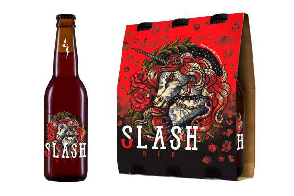Slash Red la bouteille et le pack