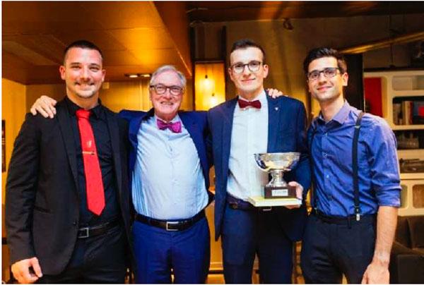 Le podium du 13e Concours Heineken des Talents de Bierologie