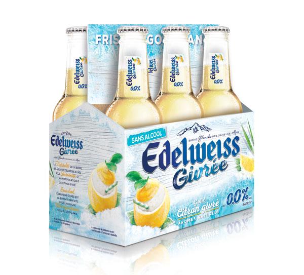 La nouvelle Edelweiss Citron Givré sans alcool arrive en rayon