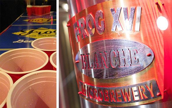 Beer Pong et visite de Frog XVI