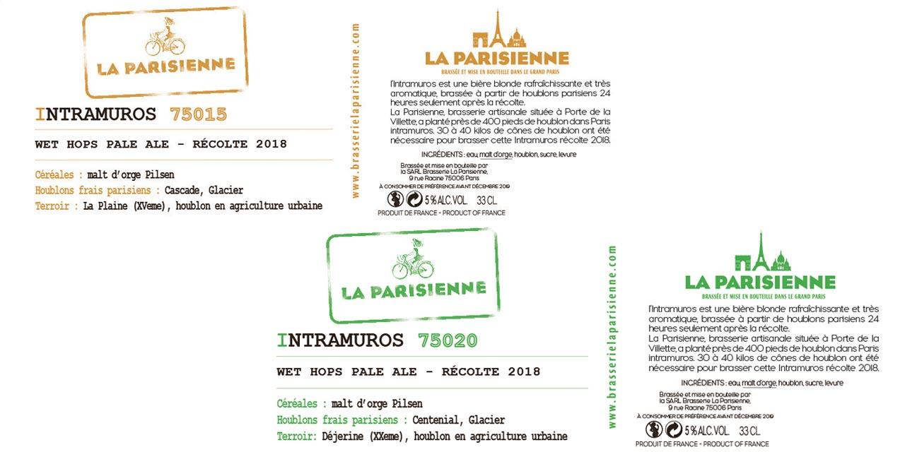 La Parisienne annonce Intramuros une bière aux houblons de Paris