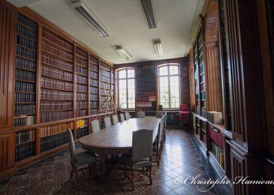 L'ancienne bibliothèque de l'Abbaye de Grimbergen