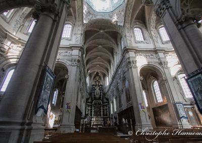 Dans la nef de l'Abbaye de Grimbergen