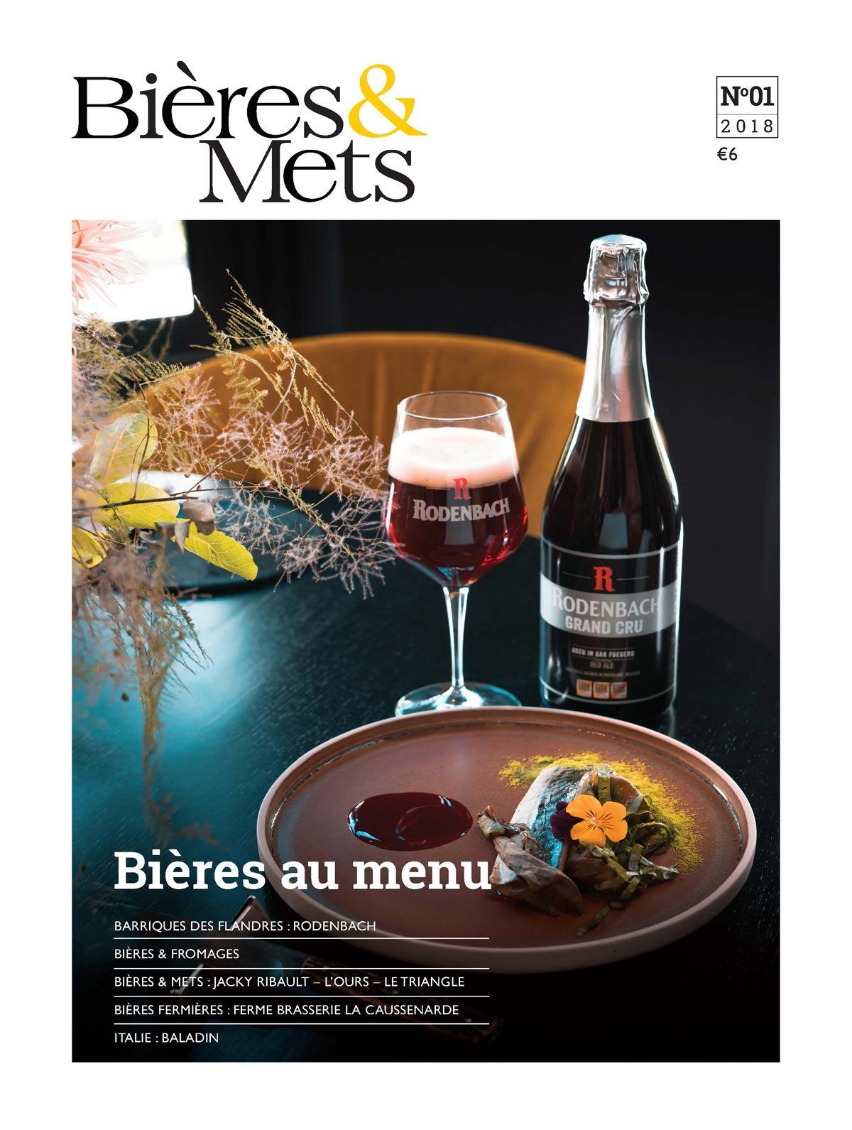 La couverture du 1er numéro de Bières & Mets