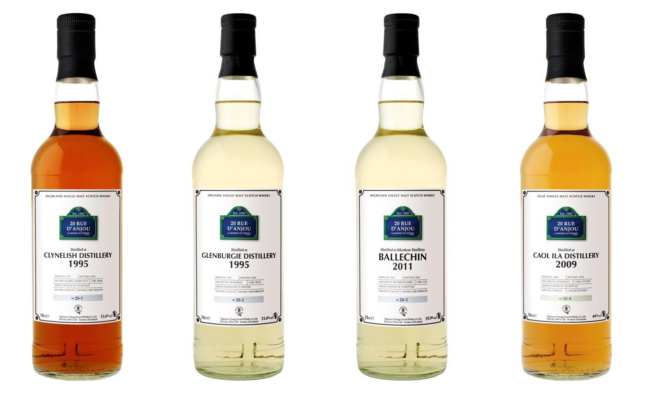 La gamme de whiskies 20 rue d'Anjou