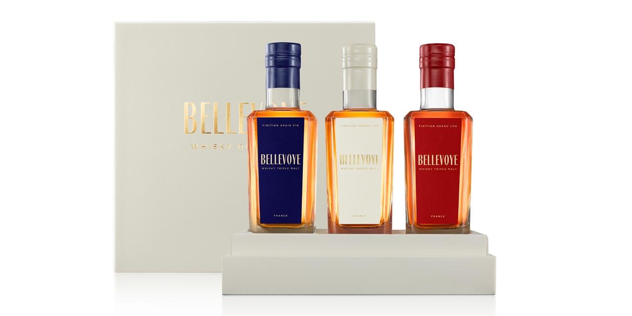 Nouvelle recette, coffret et honneurs pour le whisky Bellevoye