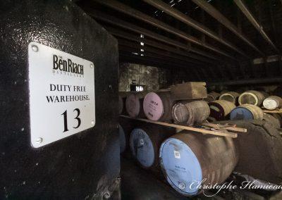 The BenRiach Distillery. L'entrée du fameux Warehouse 13