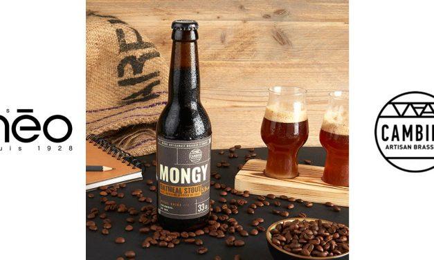 Mongy Oatmeal Stout, noire au café, signée Méo et Cambier