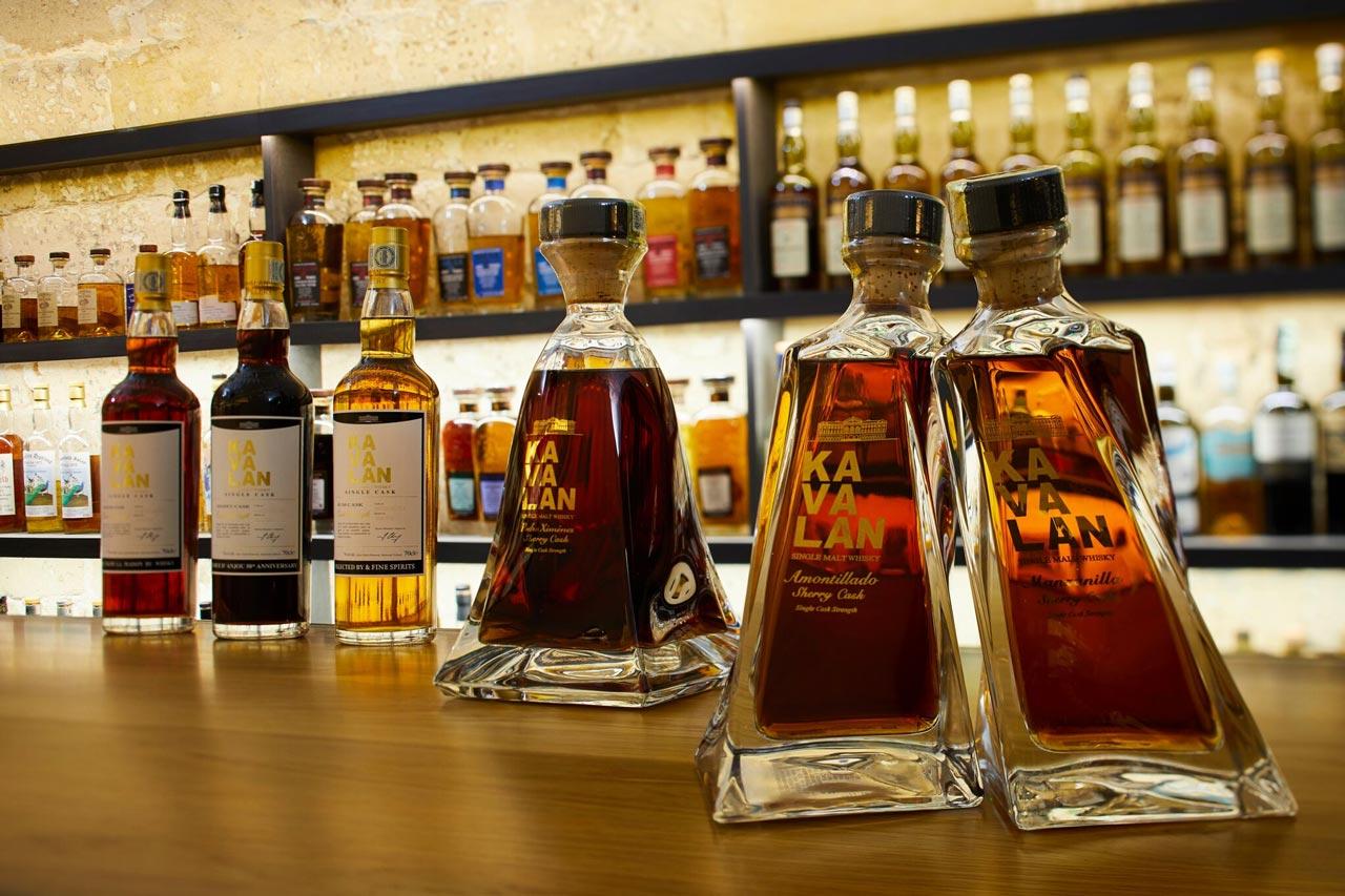 Les références de whiskies pour les Flights Kavalan au Golden Promise