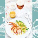 Homard, sauce au corail, à la Bière de Noël