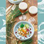 Tartare de saumon et haddock à la bière de Noël