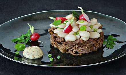 Joues de bœuf à la Curtius et salade de Haricots Tarbais